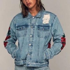 PacSun Embroidered Denim Trucker Jacket